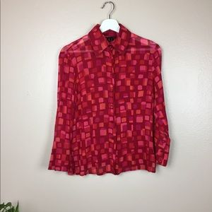 Vintage INC dressy silk blouse with sexy cuffs